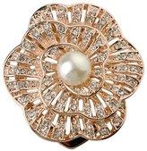 Acefeel Elegant Wedding Bridal Crystal Faux Pearl Brooches Rhinestone Flower Corsage Bouquet Decor BR022
