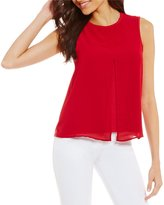 Armani Exchange Sleeveless Slit Front Jersey Top