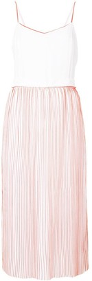 Victoria Victoria Beckham Contrast Piped Midi Dress