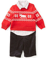 Starting Out Baby Boys 3-24 Months 3-Piece Checked Shirt, Sweater, and Pants Set