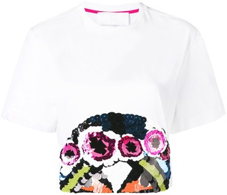 NO KA 'OI embellished cropped T-shirt