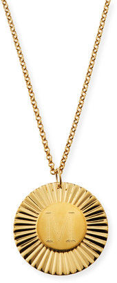 Jennifer Zeuner Jewelry Iris Rudy Engraved Initial Pendant Necklace