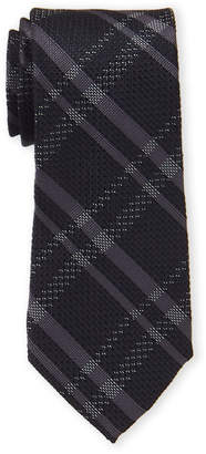 MICHAEL Michael Kors Black Textured Plaid Tie