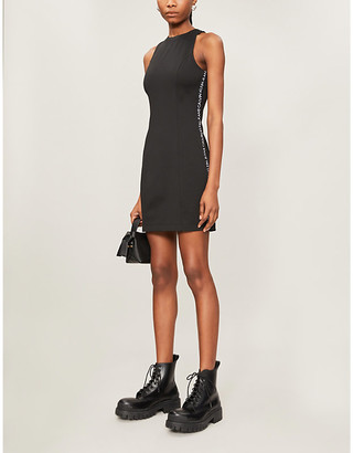 Calvin Klein Logo-tape stretch-jersey mini dress