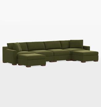 Rejuvenation Sublimity Classic 6-Piece Double Chaise Sectional Sofa