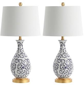 Safavieh Avi 2-Piece Ceramic Table Lamp Set