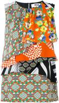 MSGM multi-print layered blouse
