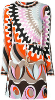 Emilio Pucci printed fitted dress - women - Silk/Spandex/Elastane/Viscose - 42