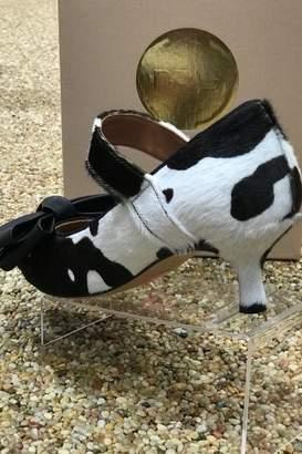 ras Cowhide Kitten Heel With Bow