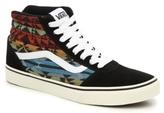 Vans Ward Hi Suede High-Top Printed Sneaker - Mens