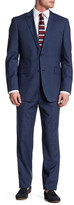Zanetti Catania Blue Check Two Button Notch Lapel Trim Fit Wool Suit