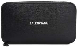 Balenciaga CASH LEATHER ZIP-AROUND WALLET