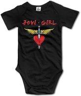 Cute Boddy Jovi Girl Little Boys Girls Short Sleeve Bodysuit Snapsuit