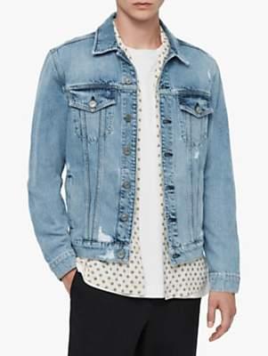 AllSaints Idle Denim Jacket, Washed Indigo