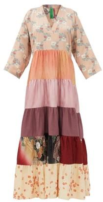 RIANNA + NINA Vintage Silk-satin Dress - Multi