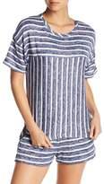 Kensie Pajama Stripe Knit Sleep Top