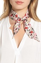 Kate Spade Women's Bohemian Floral Silk Skinny Scarf