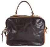 Badgley Mischka Bicolor Leather Satchel