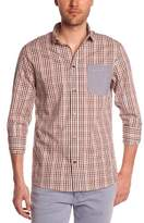 Eleven Paris Men's ELCIELO MEN Checkered Button Down Long sleeve Jacket - -