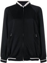RED Valentino eagle embroidered bomber jacket - women - Polyamide/Polyester/Acetate/Viscose - 42
