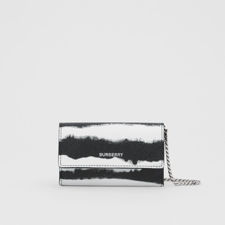 Burberry Small Watercolour Print Wallet with Detachable Strap