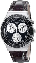 Swatch Men's Irony YCS572 Leather Swiss Quartz Watch