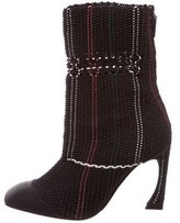 Christian Dior Basketweave Mid-Calf Boots