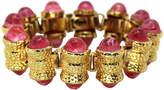 One Kings Lane Vintage Wm de Lillo Pink Cabochon Bracelet