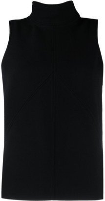 Courreges Exposed-Seam High-Neck Top