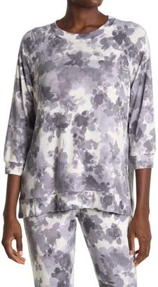 Donna Karan Soft Knit 3/4 Sleeve Lounge Top