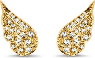 Pragnell 18kt yellow gold diamond Tiara earrings