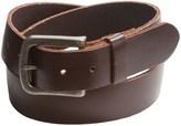 Bill Adler Flat-Strap Leather Belt (For Men)