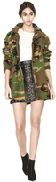 Alice + Olivia Russo Oversized Parka W Patches