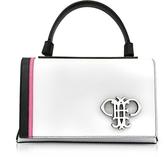 Emilio Pucci Mini Pilot Optic White Leather Shoulder Bag