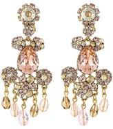 Oscar de la Renta Crystal Flower Bold C Earrings Earring