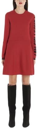 RED Valentino Logo Print Flared Dress