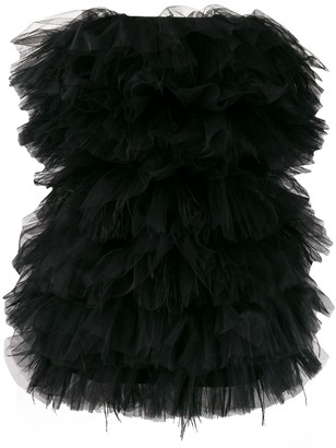 Loulou Ruffled Tulle Mini Dress
