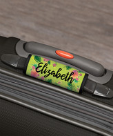 Personalized Planet Luggage Tags - Green & Orange Pineapple Personalized Luggage Handle Wrap