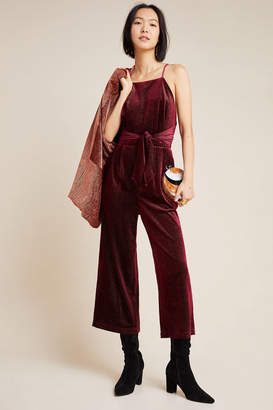 Greylin Rouge Velvet Jumpsuit