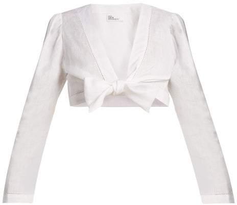 Lisa Marie Fernandez - Tie Waist Linen Top - Womens - White