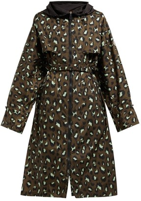 Moncler Washington Animal-print Technical Parka - Green Print