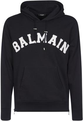 Balmain Chest Logo Hoodie