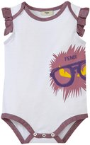 Fendi Monster Graphic Bodysuit (Baby) - White - 3 Months