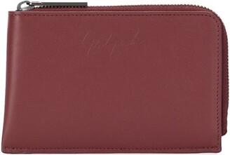 Discord Yohji Yamamoto Embossed Logo Calf-Leather Wallet