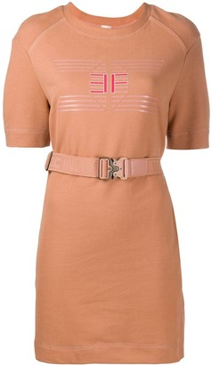 Elisabetta Franchi Logo Print Dress