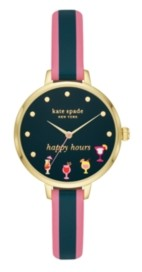 Kate Spade Metro Gold-Tone Happy Hours Watch, 34MM