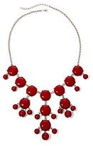 JCPenney Asstd Private Brand Red Bubble Statement Necklace