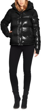 S13 Ella Lacquer Hooded Puffer Coat