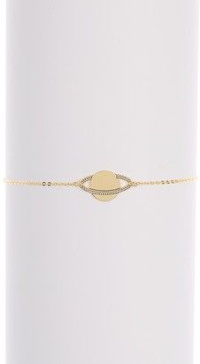 KARAT RUSH 14K Yellow Gold Saturn Charm Bracelet