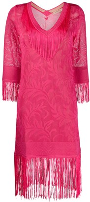 Twin-Set Fringed Kaftan Dress